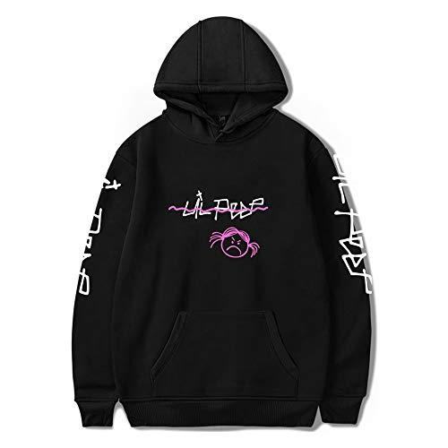 Unisex Lil_Peep Zip Up Street Hip Hop tamaño Suelto Hoodies Jumper Pullover Sweatshirt Long Sleeve...