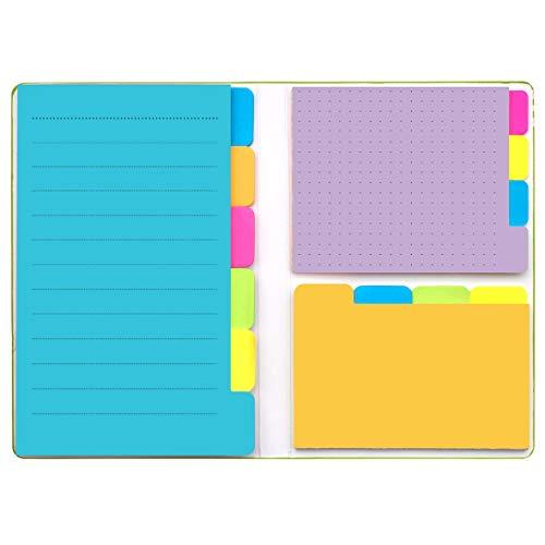 LELADY Note appiccicose, set di note adesive, blocchetti per appunti autoadesivi, prioritizzazione delle note adesive con divisore con codifica a colori, Verde (6,14 * 4 pollici)