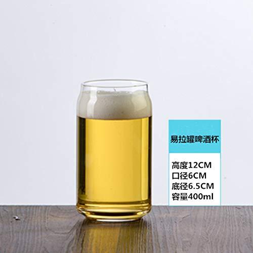 Glaseres Bicchieri Bicchiere da Vino in Vetro Cristallo Individuale, Nuovo Bicchiere di Birra in Lattina