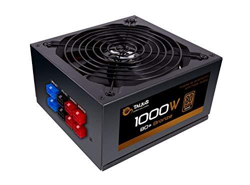 TALIUS 1000 W Bronze, Gaming-Netzteil, Temperatur- und Geräuschsteuerung, PFC-Steuerung, Kabel, Schwarz