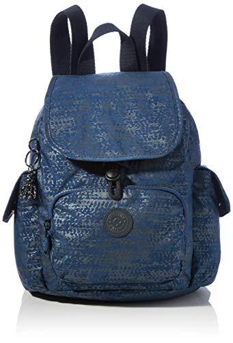 Kipling City Pack Mini, BACKPACKS para Mujer, Blue Eclipse Pr, 14x27x29 cm (LxWxH)