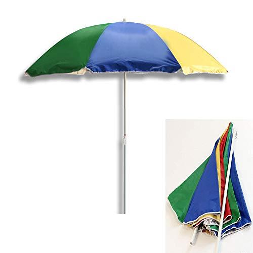 Parapluie avec Angle incliné sur la terrasse de la Plage du Jardin, Protection Contre l'ombre Arc-en-Ciel 1,8 m (71 Pouces), Protection UV 50+
