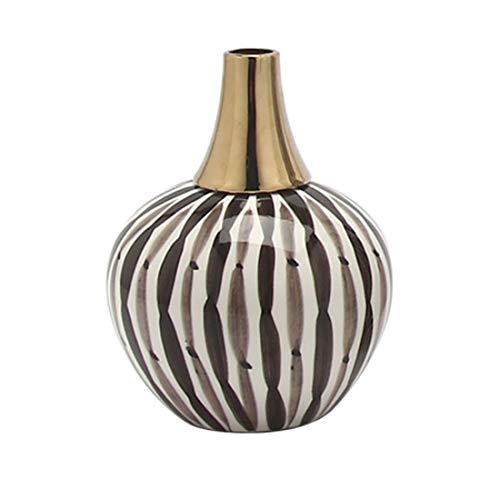 SSNG Blumenvase, Keramikvase Nordische Streifen Für Wohnzimmer Küche Tisch Zuhause Büro Hochzeit Herzstück Oder Als Geschenk