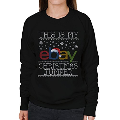Coto7 This Is My Ebay Christmas Jumpers Knit Pattern Women's Sweatshirt