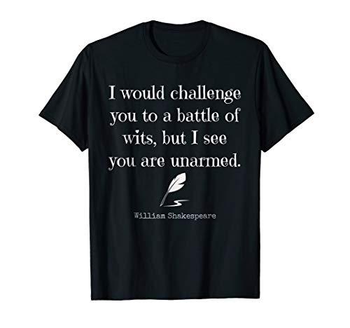 William Shakespeare Quote T Shirt:English Literature T Shirt