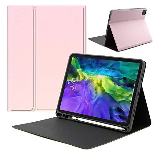 RZL PAD y TAB Fundas Para iPad Pro de 11 pulgadas 2020, cubierta de soporte de cuero de PU con soporte de lápiz Abrote a prueba de golpes, carcasas de teclado de tableta para iPad Pro de 11 pulgadas 2