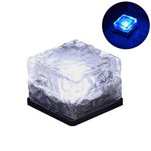 WINBST Solar Pflasterstein Solar LED Glasbaustein Wegbeleuchtung Solar Glas Pflastersteine Wegbeleuchtung