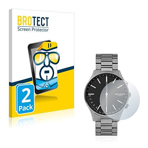 BROTECT Schutzfolie kompatibel mit Skagen Hybrid Smartwatch Holst (2 Stück) klare Bildschirmschutz-Folie