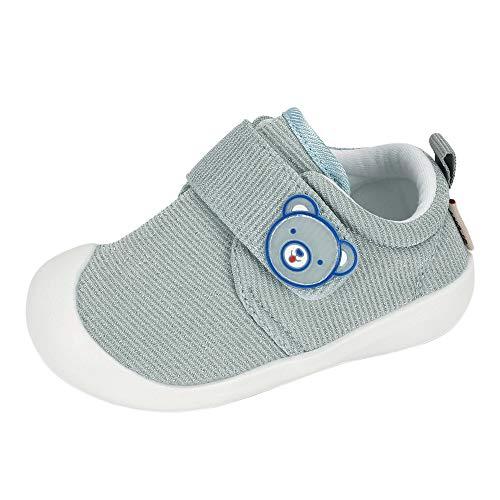 Zapatos Bebe Niño Primeros Pasos Zapatillas Deportivas Bebé Recién Nacido Gris Talla 19