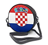 BAODANLA Bolso redondo mujer Round Crossbody Bag Croatia Flag Handbag Purse Single Shoulder Bag Sling Bag