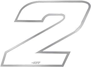 4R Quattroerre.it 13092 Startnummer 2 Aufkleber für Motorräder, Weiß, 65 x 85 mm