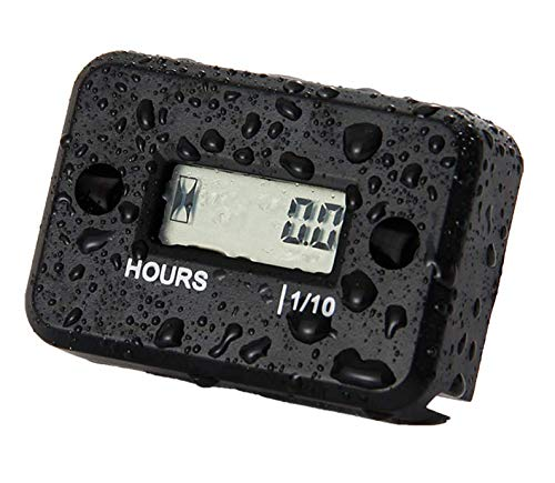 Nine Rong Inductive Hour Meter for Lawn Mower, Motorcycle,ATV,Ski,Snowmobile,Inboards and Outbard Pumps (Black)