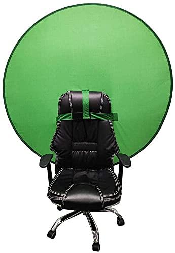 Mitrilifi Green Background Screen Portable Food Video Studio, unerreichbare grüne Bildschirmunterbrechung, Hintergrundbildschirm, grüner Bildschirm für Stuhl (Size : Single Layer 75CM)