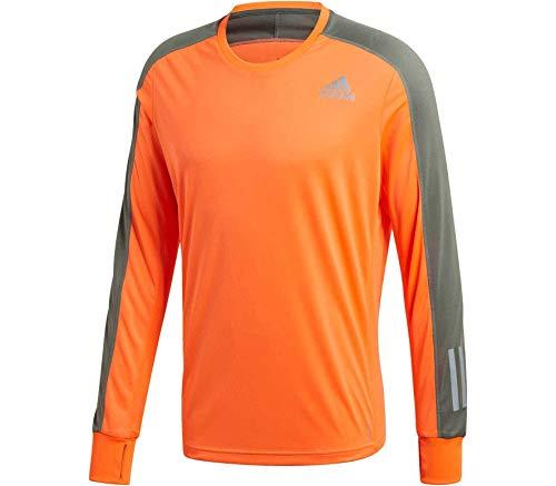 adidas Own The Run Sweatshirt Sudadera de Hombre, Apsior/Verde, Extra-Small