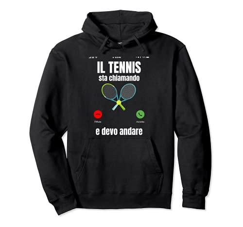 Tennis Divertente Tennista Uomo Donna Felpa con Cappuccio