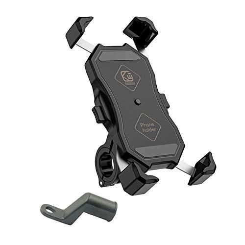 JUDVDX Universal de 360 Grados giratoria de la Bicicleta, Bicicleta, Motocicleta Soporte for teléfono móvil, Soporte for teléfono móvil, y el Soporte de Cuna for teléfonos móviles 3,5-6,5 Pulgadas