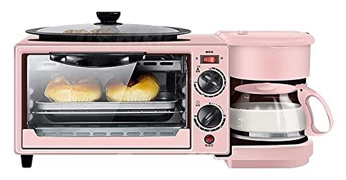 Horno eléctrico Horno - Parrilla eléctrica portátil pequeña de 9L 3-en 1 estación de desayuno multifunción Máquina de pan de desayuno, horno eléctrico, cafetera, una máquina adecuada for el hogar