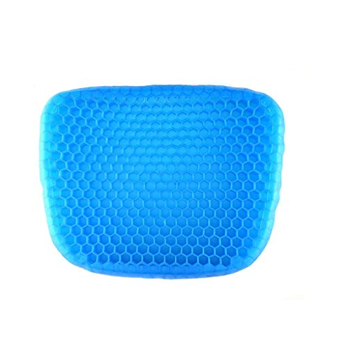 HXGL-Drum Gel Seat Cushion, Thick Big Gel Seat Cushion,Newest Modified Double Gel Honeycomb Design Seat Cushion, for Pressure Relief Back Home Office Chair Car Travel