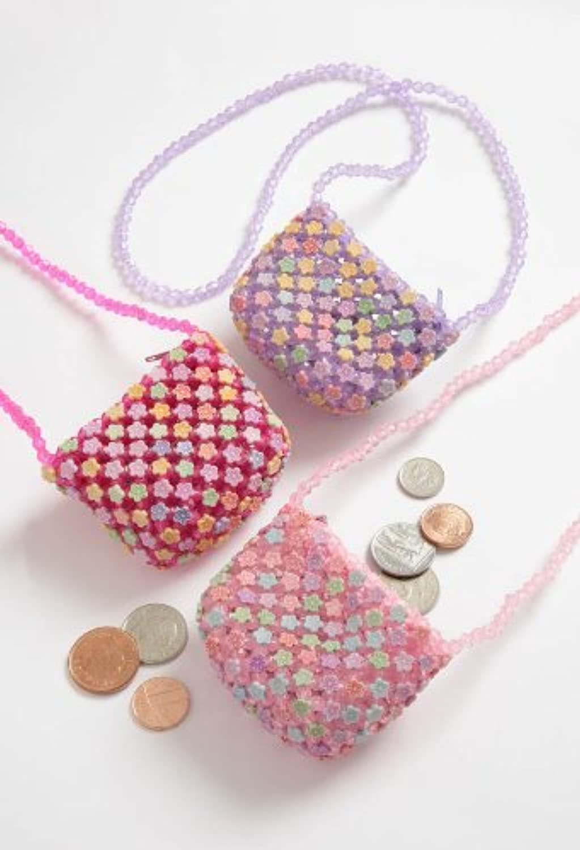 Girls Plastic Beaded Flower Bag TF414 B004I68WMU | Erste Qualität