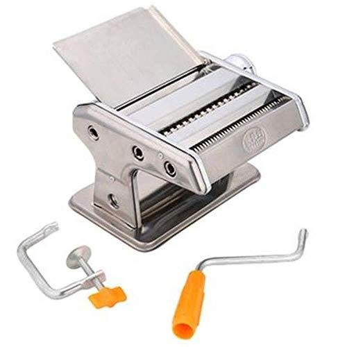 YUXIwang Máquina de pasta Fabricante de pasta delicada Pasta Máquina de pasta Máquina de pasta de acero inoxidable Pasta Máquina de rodillo manual Fideos Maker Pasta Cortadores con 2 cuchillas hacen e