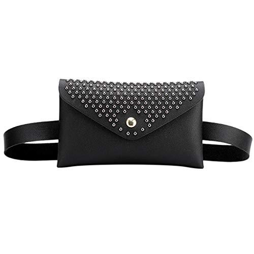 Auifor✿ Werkt voor vrouwen in de buitenlucht studs Haspe Solid Color Messenger Bag borsttas heuptas
