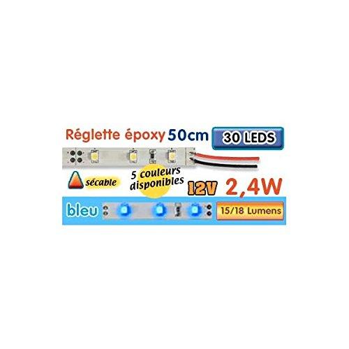 Striscia LED epossidica 50 cm 2W4 12V blu