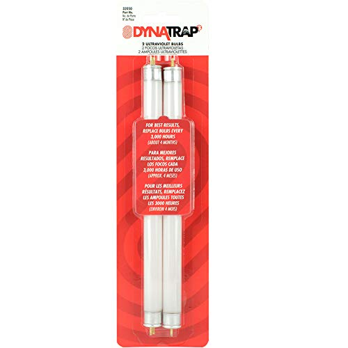 DynaTrap 32050 6-Watt UV Outdoor Insect Trap Models DT2000XL and DT2000XLP Rep Bulb One-Acre, 2 Count, White