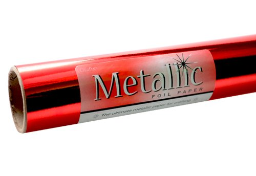 Grafix Red Metallic Foil Paper Roll 26-Inch by 6-Feet