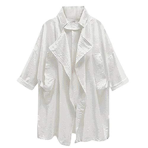 Gabardina de las mujeres Abrigos largos de primavera femeninos más tamaño Outwear bolsillos manga larga cortavientos chaqueta chaqueta