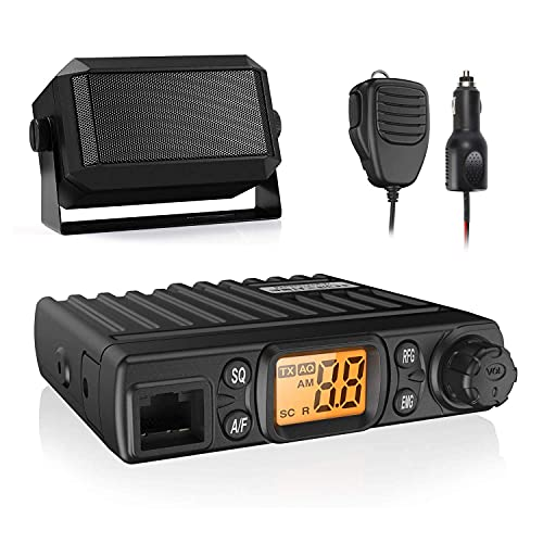 Radioddity CB-27 Mini CB Radio Mobile + Radioddity CB Mobile Radio External Speaker(5W)