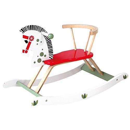Bino-Caballo balancín de Madera con Respaldo, Color (Merten GmbH 1)