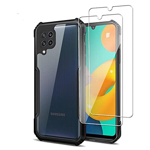 Funda Samsung Galaxy M32 con 2 Piezas Protector de Pantalla Cristal Vidrio...