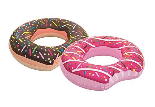 Bestway Schwimmring, Donut, ab 12 Jahren, 107 cm (1x Pink & 1x Braun)