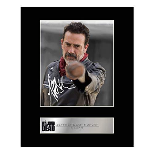 Jeffrey Dean Morgan, Negan Signiert Foto Display The Walking Dead # 1