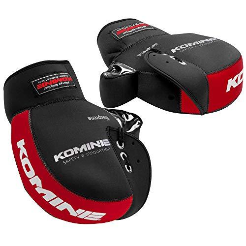 コミネ(KOMINE) バイク用 ネオプレーンハンドルウォーマー/ハンドルカバー ブラック/レッド フリー AK-021 345