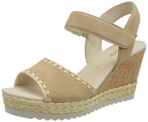 Gabor Shoes Damen Basic' Riemchensandalen, Beige (Caramel 12), 41 EU