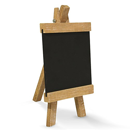 Pequeña pizarra en madera de caballete (10x 18cm); como Memo de tabla,...