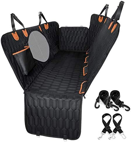Dog Car Seat Cover 100 Waterproof OKMEE Scratchproof Dog Seat Cover with Big Mesh Window 2 Seat product image