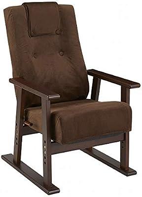 宮武製作所 座椅子 W58XD65-122XH90-99cm(SH39/42/45/48cm) 高座椅子 ブラウン YS-1625 BR