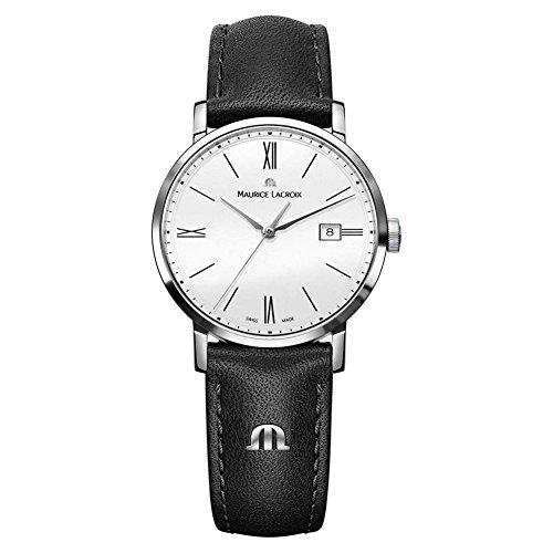 Maurice Lacroix Damen Analog Quarz Uhr mit Leder Armband EL1084-SS001-111-1