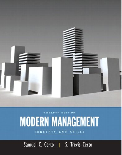 Modern Management: Concepts and Skills