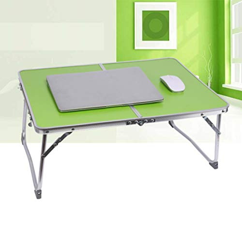 Escritorio para Computadora Portátil Soporte para Computadora Portátil Mesa Plegable De Aleación De Aluminio Estudiante Perezoso Simple Mesa Pequeña Escritorio Green/A
