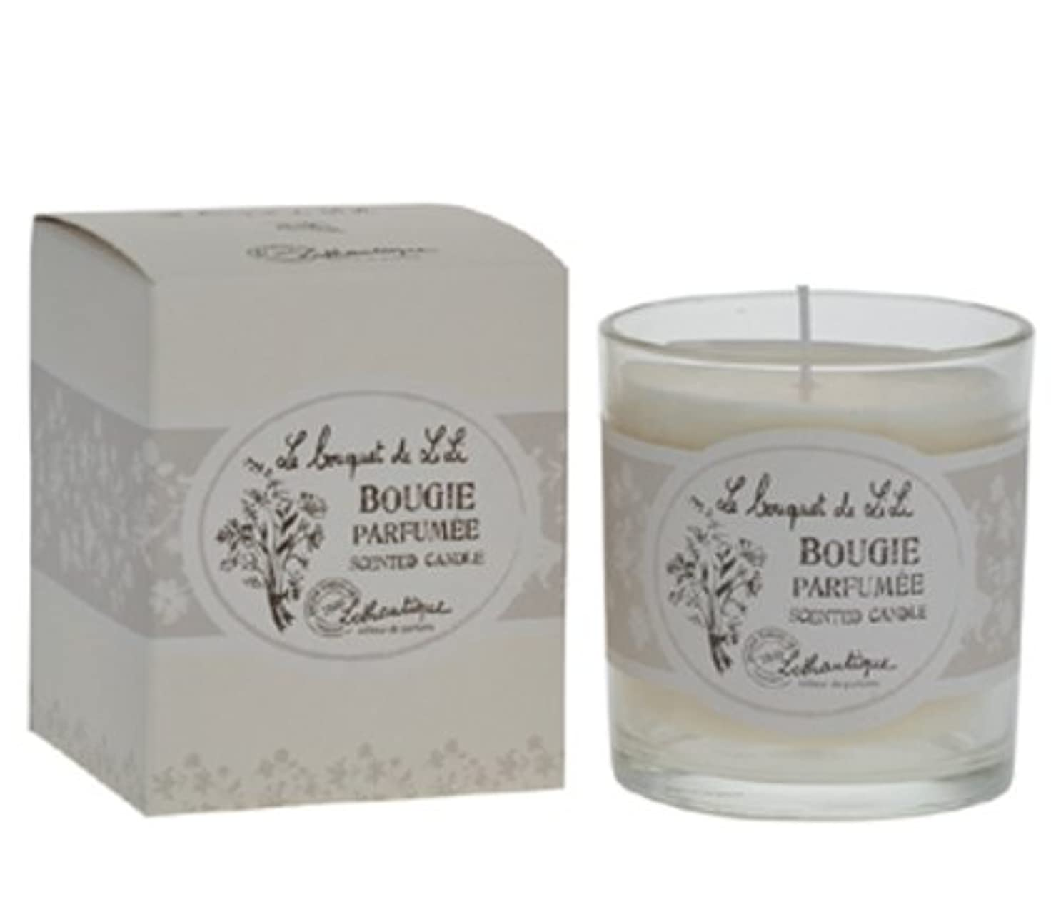 見てスローガンコールLothantique(ロタンティック) Le bouquet de LiLi(ブーケドゥリリシリーズ) キャンドル 140g 3420070029065