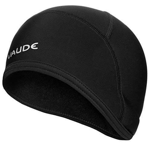 VAUDE Mütze Bike Warm Cap, Helm-Unterziehmütze, black uni, S, 032780515200