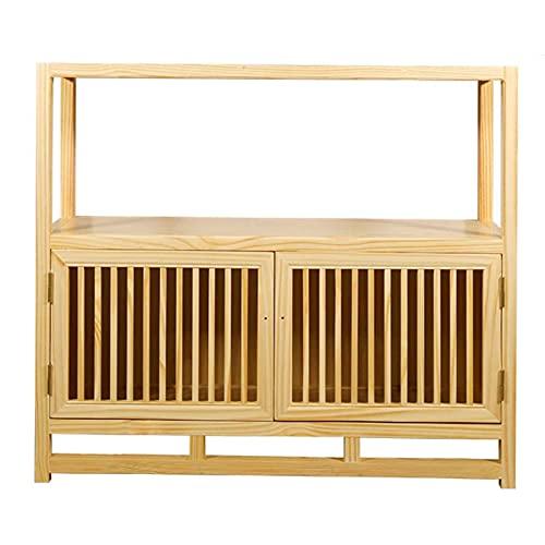 Armarios de baño de madera maciza, armarios de zapatos, armarios bajos de madera, armarios de almacenamiento versátiles, estructura robusta, adecuada para uso interior y exterior.