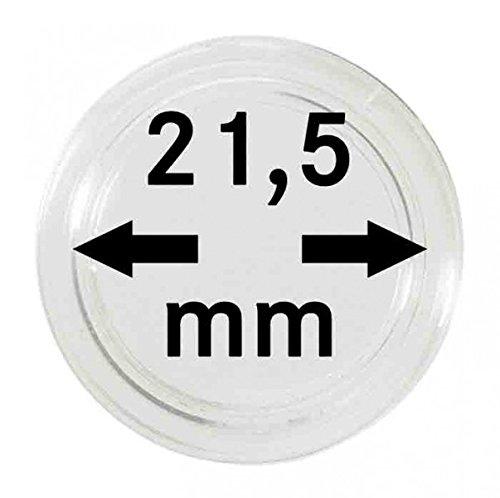 LINDNER Das Original Capsules Monnaies Ø intérieur 21,5 mm, Paquet de 10