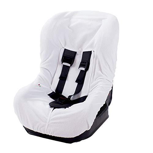 Babysanity rivestimenti copri universale per seggiolino auto 0/18 in DOPPIA SPUGNA di cotone 100% colore Bianco