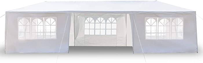 Party Tent 10x30 Heavy Duty Canopy Tent with Removable Sidewalls Outdoor Wedding Tent