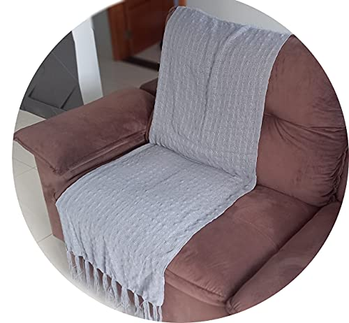 Manta Para Sofá xale chale pra Sofa cinza claro peseira 1.80x1.20