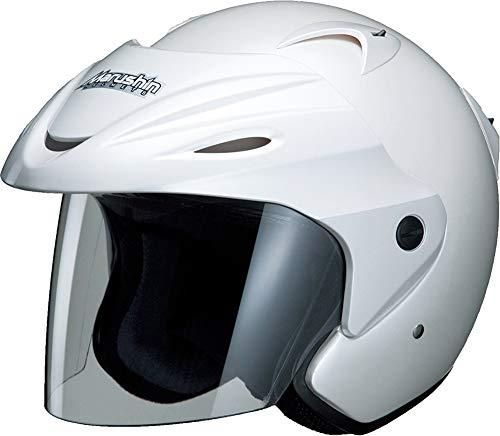 マルシン(MARUSHIN) バイクヘルメット ジェット M-380 パールホワイト フリーサイズ(57~~60CM未満)